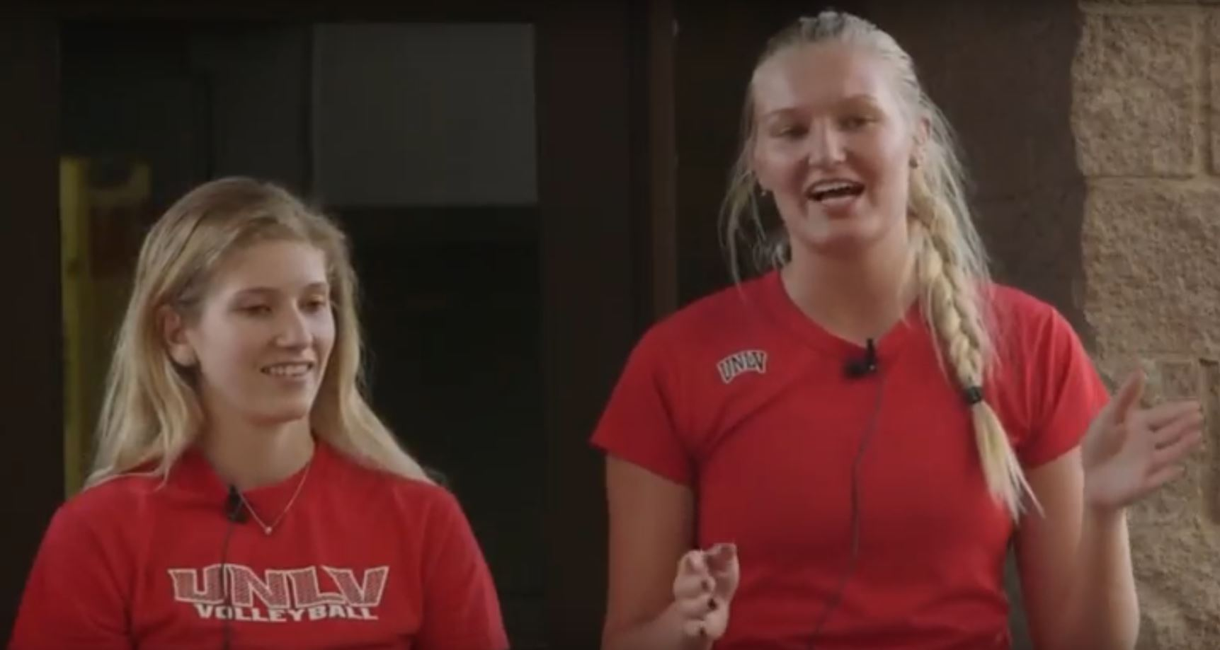 UNLV Players talking at Las Vegas Showcase about transition to college volleyball, National Volleyball Showcase